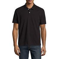 City Streets Short Sleeve Pique Polo Shirt (Black)