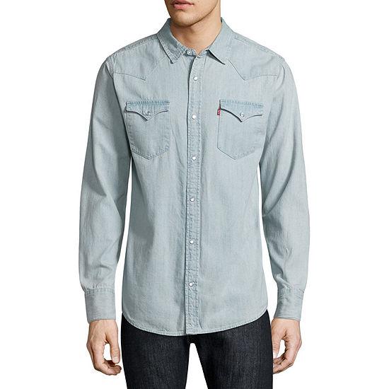 7754f817374 Levis Long Sleeve Woven Shirt 1