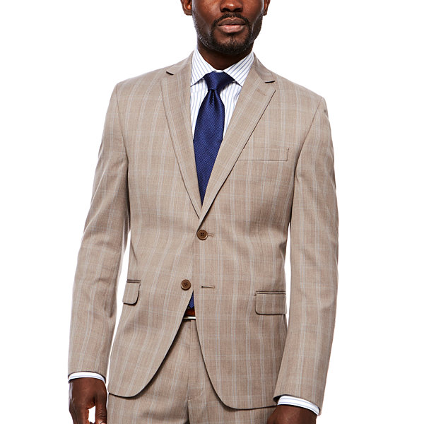 Collection by Michael Strahan  Mens Plaid Classic Fit Suit Jacket