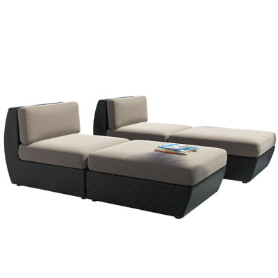 Seattle 4 Piece Lounger