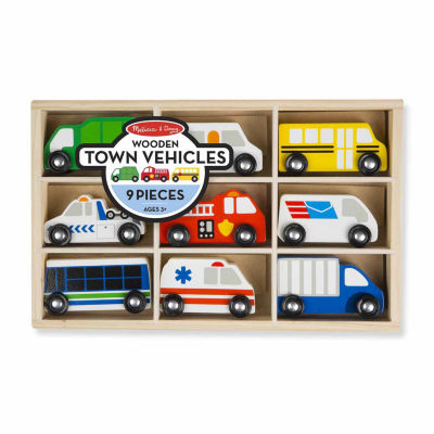 Melissa & Doug® Wooden Town Vehicles Set
