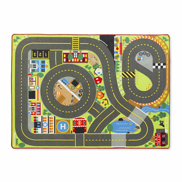 Melissa Doug Jumbo Roadway Activity Rug