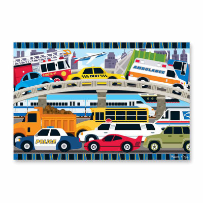 Melissa & Doug® Traffic Jam Floor Puzzle 2'x3' (24 pc)