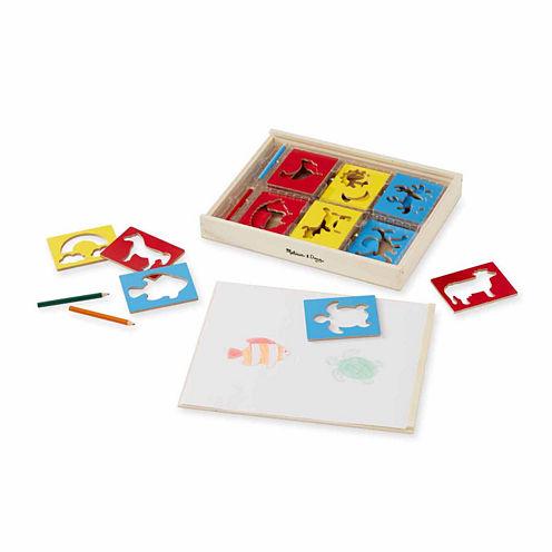 Melissa & Doug® Wooden Stencil Box
