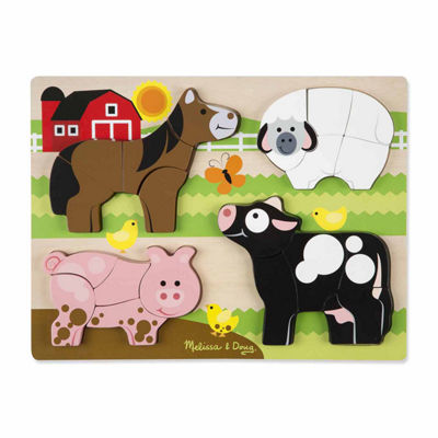 Melissa & Doug® Chunky Jigsaw Puzzle - Farm Animals