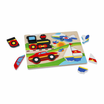 Melissa & Doug® Chunky Jigsaw Puzzle - Vehicles