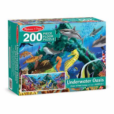 Melissa & Doug® Underwater Oasis Floor Puzzle (200 pc)