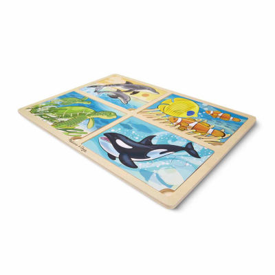 Melissa & Doug® 4-in-1 Sea Life Jigsaw Puzzle