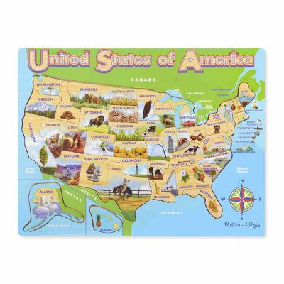 Melissa & Doug® USA Map Jigsaw Puzzle