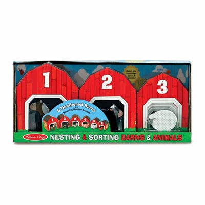 Melissa & Doug® Nesting & Sorting Barns & Animals
