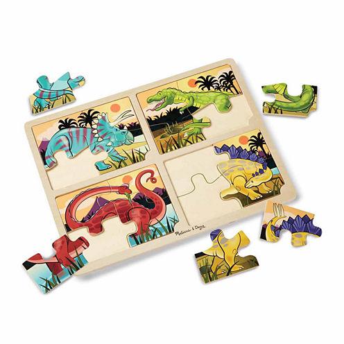 Melissa & Doug® 4-in-1 Dinosaur Jigsaw Puzzle