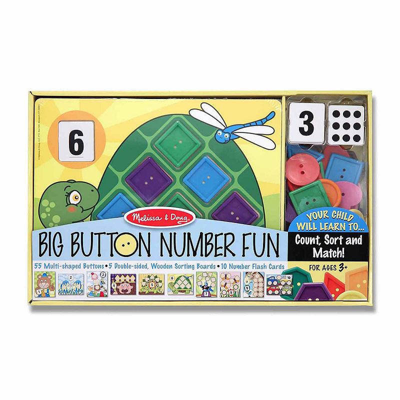 Melissa & Doug Big Button Number Fun, Multi-colored, One Size