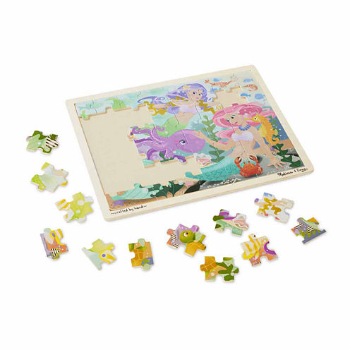 Melissa & Doug® Mermaid Fantasea Wooden Jigsaw Puzzle - 48pc