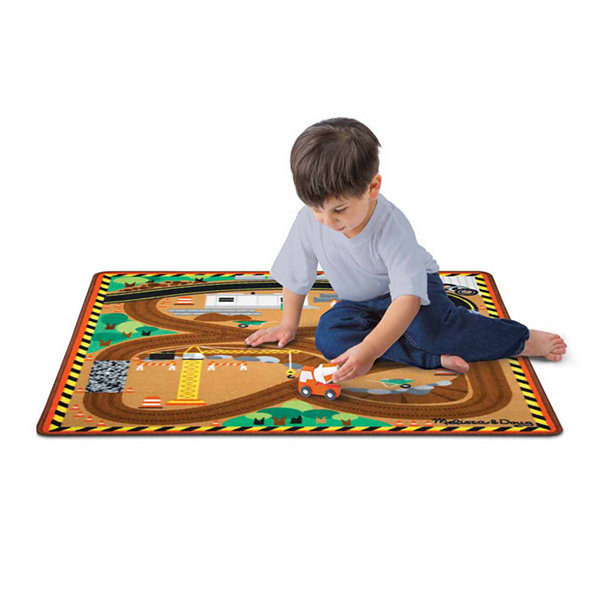 Melissa & Doug® Round the Site Construction Truck Rug