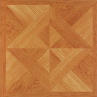 Nexus Classic Light Oak Diamond Parquet 12x12 Self Adhesive Vinyl Floor Tile - 20 Tiles/20 Sq Ft.