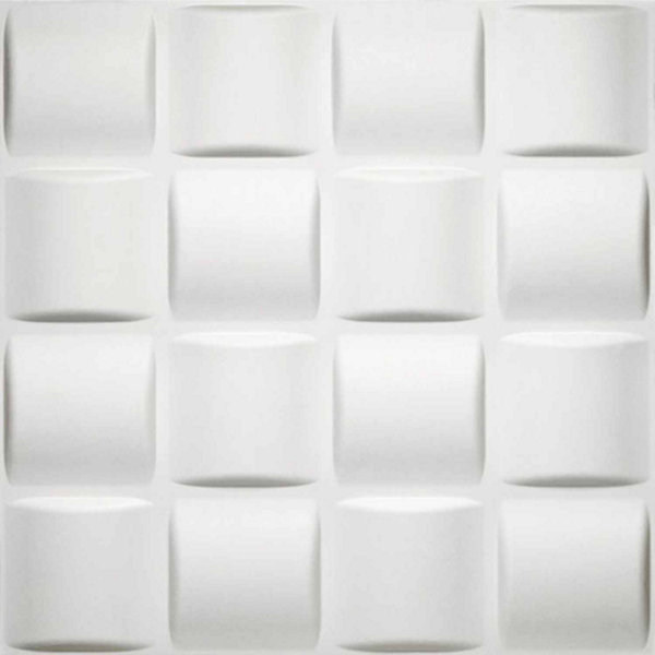 Donny Osmond Basket Weave 19.6x19.6 Self Adhesive Wall Tile - 10 Tiles/26.70 Sq Ft.