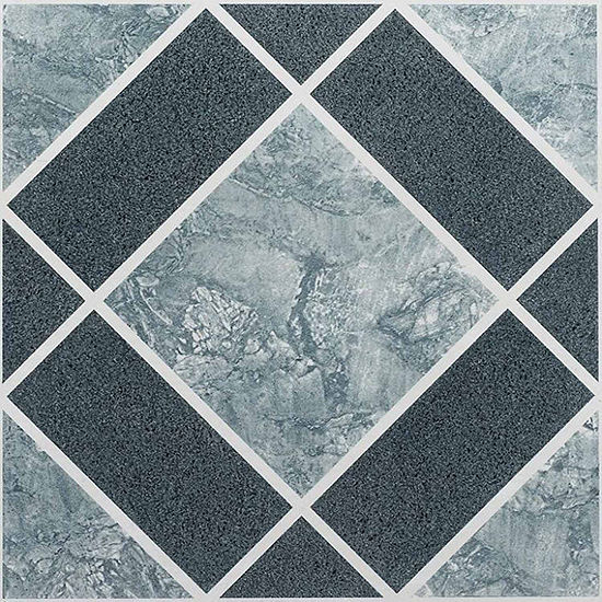 Nexus Light Dark Blue Diamond Pattern 12x12 Self Adhesive Vinyl