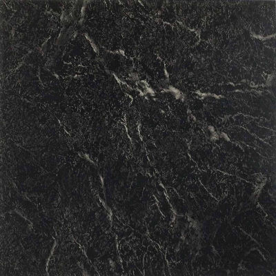 Nexus Black With White Vein Marble 12x12 Self Adhesive Vinyl Floor Tile - 20 Tiles/20 Sq Ft.