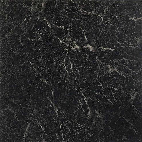 Nexus Black With White Vein Marble 12x12 Self Adhesive Vinyl Floor Tile - 20 Tiles/20 Sq Ft.