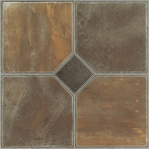 Nexus Rustic Slate 12x12 Self Adhesive Vinyl Floor Tile - 20 Tiles/20 Sq Ft.