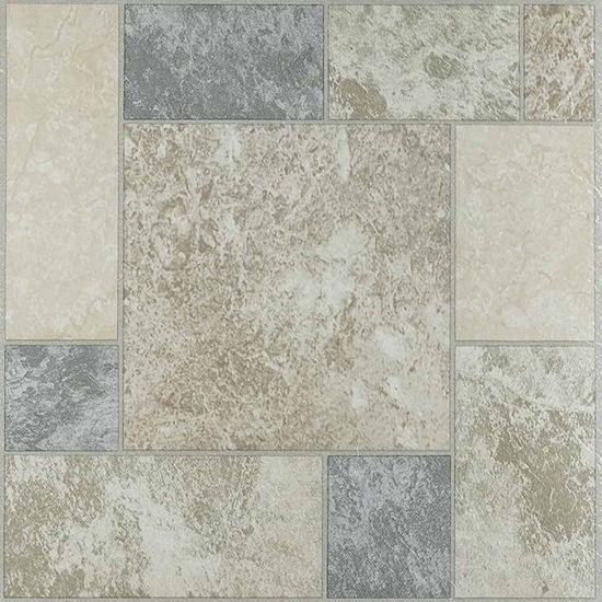 Nexus Marble Blocks 12x12 Self Adhesive Vinyl Floor Tile - 20 Tiles ...