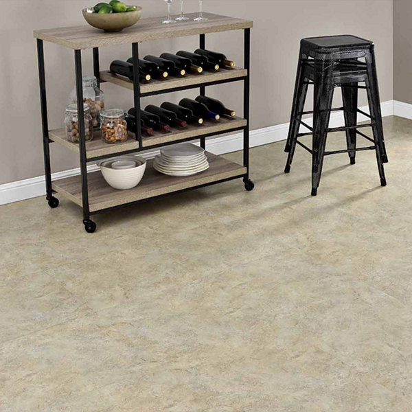 Majestic Ghibli Beige Granite 18x18 Self Adhesive Vinyl Floor Tile - 10 Tiles/22.5 Sq Ft