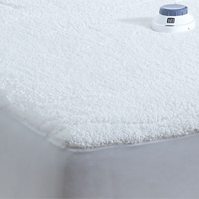 Safe And Warm Sherpa Quilted Heated Mattress Pad