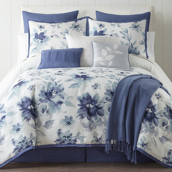 sale ease sets lovely and with style bedroom comforter king queen for best of bedding intended brown blue floral