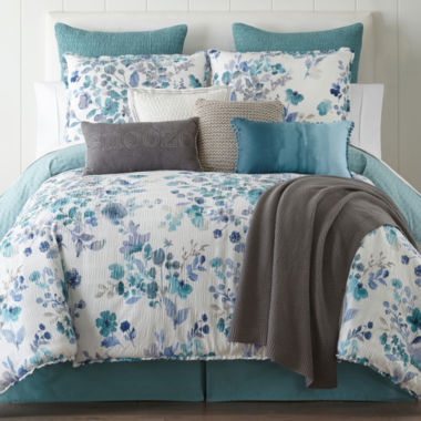 jcpenney.com | JCPenney Home Clarissa 4-pc. Reversible Comforter Set & Accessories
