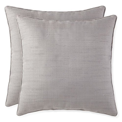 JCPenney Home™ Solid Texture 2-Pack Decorative Pillows