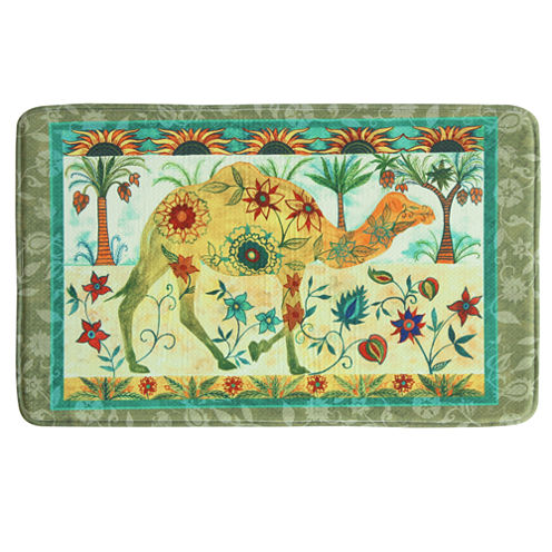 Bacova Guild Camel Tapestry Printed Rectangular Anti-Fatigue Rugs