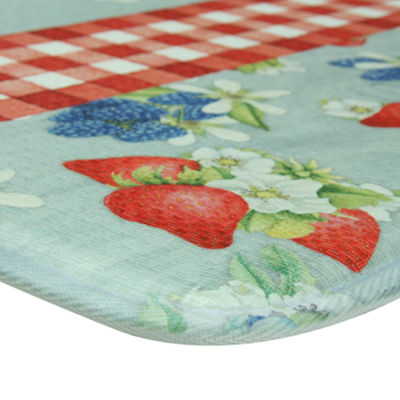 Bacova Guild Americana Berries Printed Rectangular Anti-Fatigue Rugs