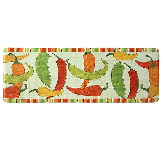 Bacova Guild Spicy Peppers Rectangular Anti-Fatigue Indoor Kitchen Mat