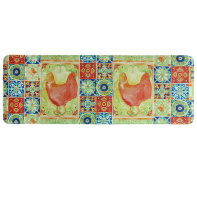 Bacova Guild Tiles And Hen Rectangular Kitchen Mat
