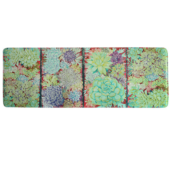 Bacova Guild Succulent Panels Rectangular Anti-Fatigue Indoor Kitchen Mat