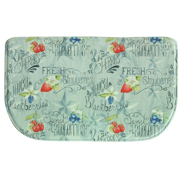 Bacova Guild American Berries Wedge Kitchen Mat