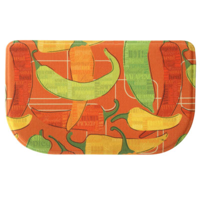 Bacova Guild Red Spicy Peppers Wedge Kitchen Mat