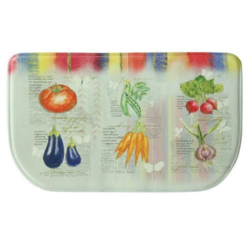 Bacova Guild Garden Veggies Wedge Kitchen Mat
