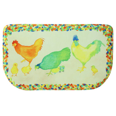 Bacova Guild Chickens And Candy Wedge Kitchen Mat
