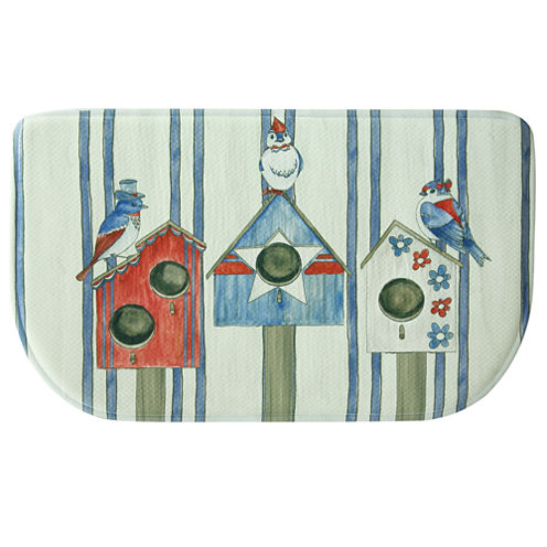 Bacova Guild Bird House Americana Wedge Kitchen Mat