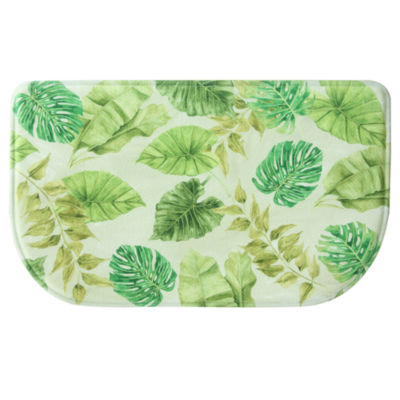 Bacova Guild Tropical Leaves Wedge Kitchen Mat