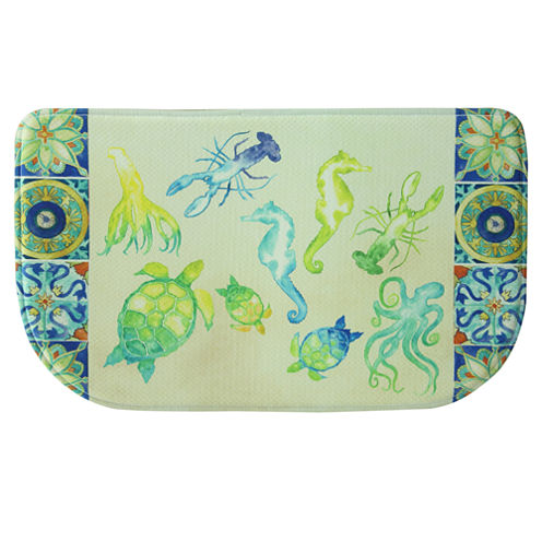 Bacova Sea Temple Printed Anti-Fatigue Rug
