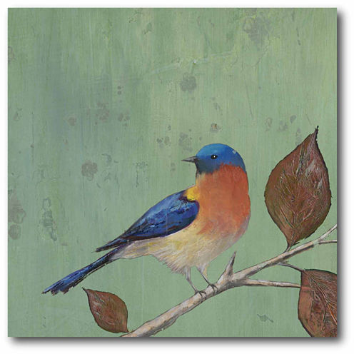 Resting Bird II Canvas Wall Art