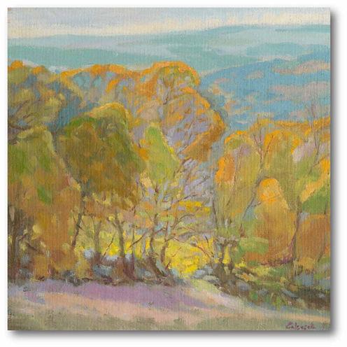 Golden  Trees II Canvas Wall Art
