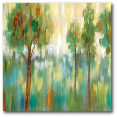 Green Trees I Canvas Wall Art