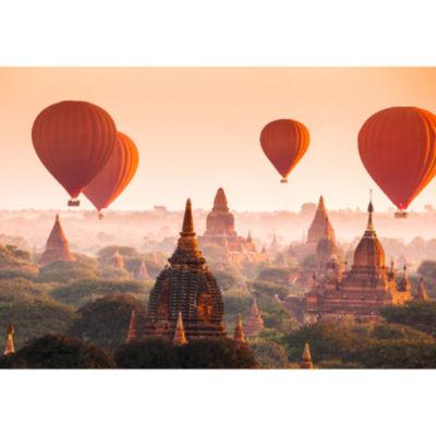 Brewster Wall Balloons over Bagan Wall Mural