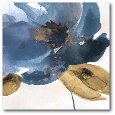 Watercolor Flower Blue Canvas Wall Art