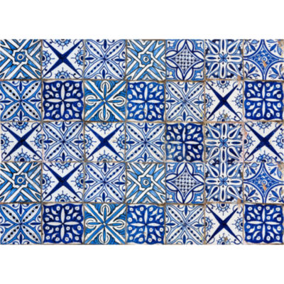 Brewster Blue Azulejos Kitchen Panel Decal