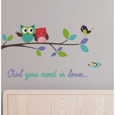 Brewster Wall Owl You Need Is Love Wall Decals