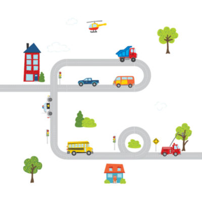 WallPops Around Town Large Wall Art Decal